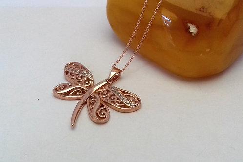 Roz yusufçuk tasarım bayan kolye