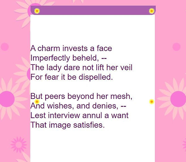 POEM-A CHARM INVESTS A FACE.JPG