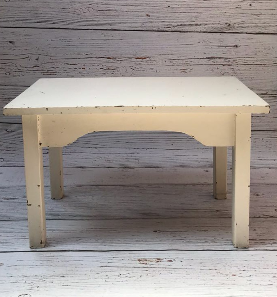 Antique white rectangular table