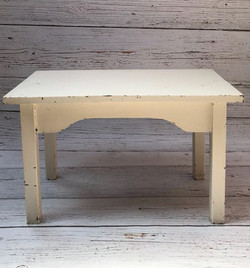 Antique white rectangular table