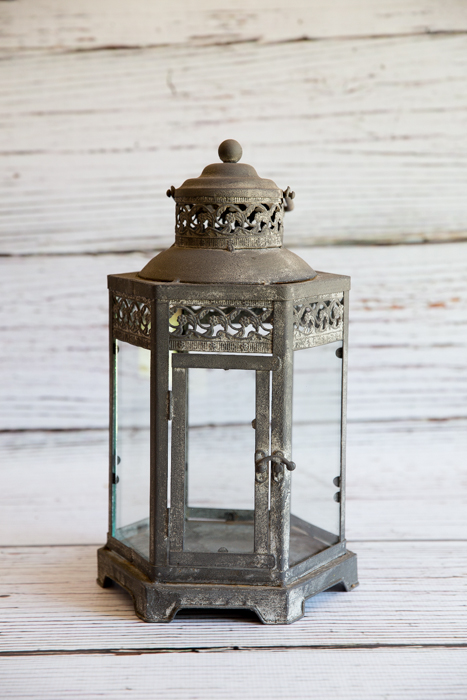Antique Grey Lantern