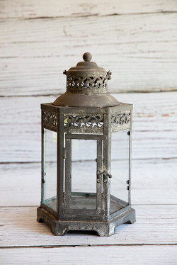 Antique Grey Lantern