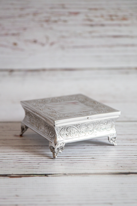 Small square cake stand 15cm