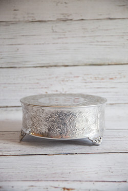 Small silver cake stand 20cm