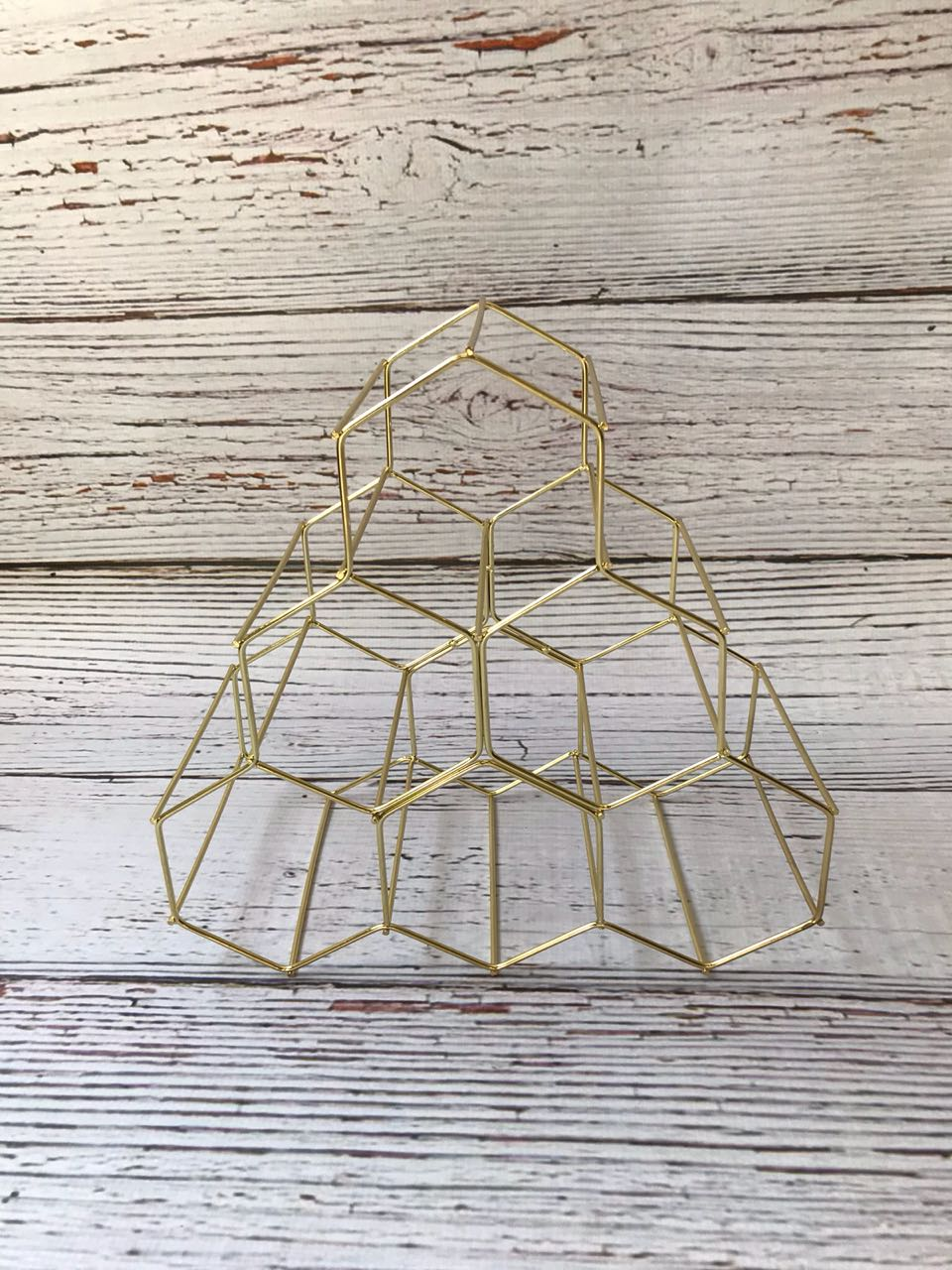 Hexagon Shape Gold
