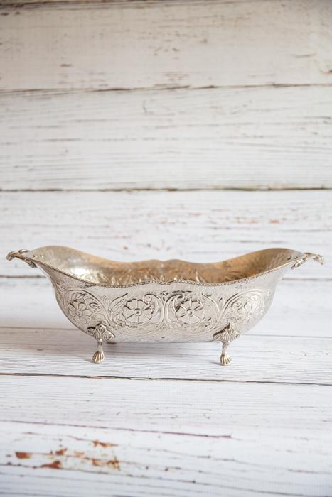 Silver bath bowl