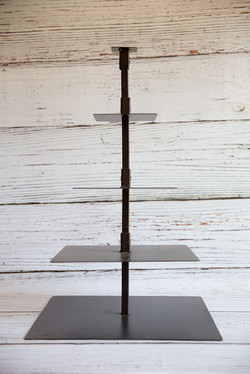 Brown 4 Tier Square Cake Stand