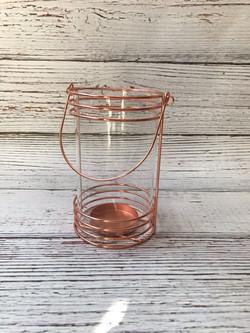 Rose Gold cylinder candle holder