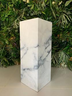 White Marble Plinth