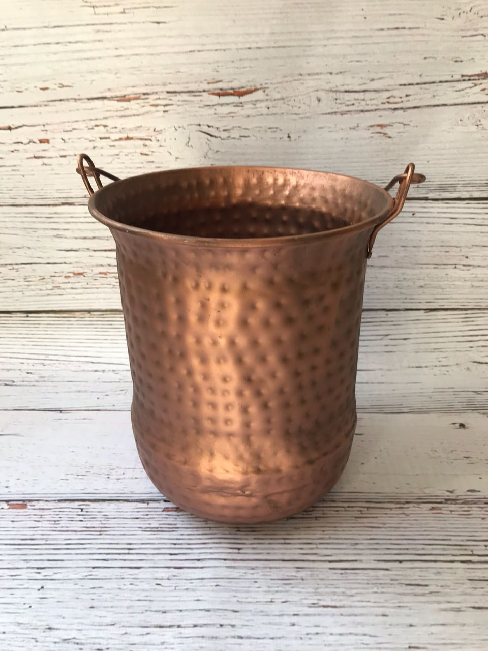 Rose Gold Hammered Bucket