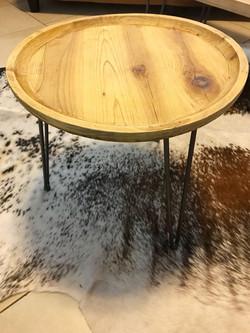 Side table Wooden top / Steel Legs