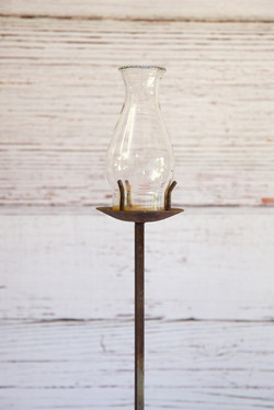 Lamp shade with stand for garden