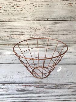 White Rose gold basket