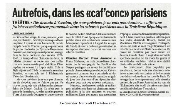 Article de presse - Le Courrier