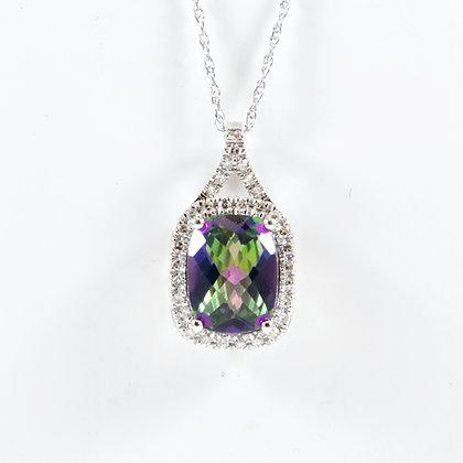 9ct Diamond Mystic Topaz