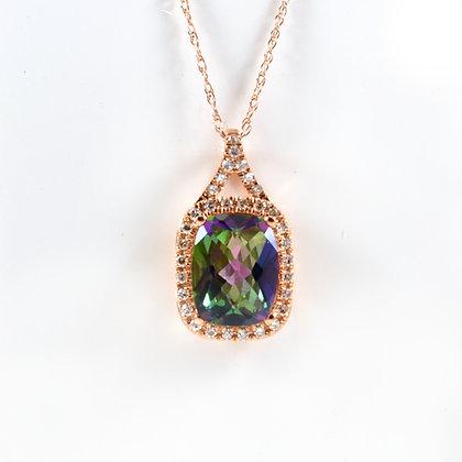 9ct Rose Diamond Mystic Topaz (0.02)