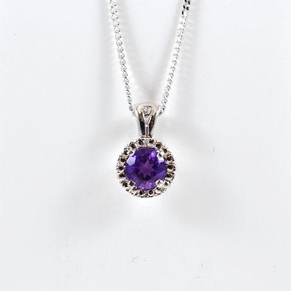 9ct Diamond Amethyst