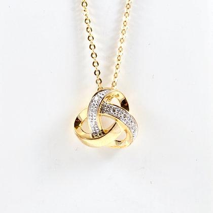 9ct Diamond Knot (0.03)