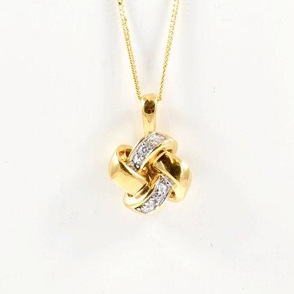9ct Diamond Swirl (0.01)
