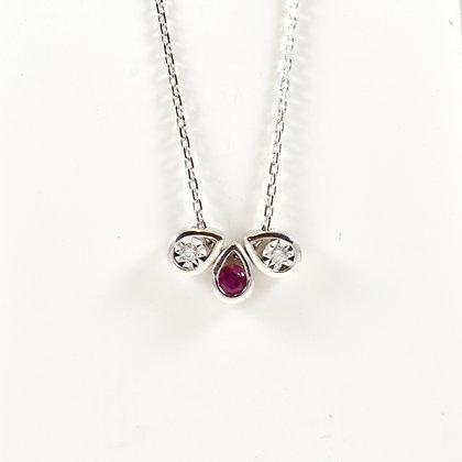 9ct Diamond Ruby (0.02)