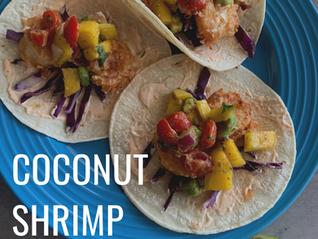 Coconut Shrimp Tacos with a Mango Avocado Salsa 3.08 Let the Games Begin