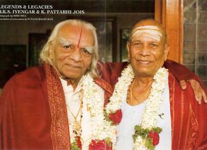 Sri K Pattabhi Jois et BKS Iyengar réunis