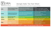 Georgia Sales Tax: Who, What, When and Where