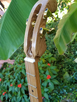 hand-carved Oak Neck & Headstock