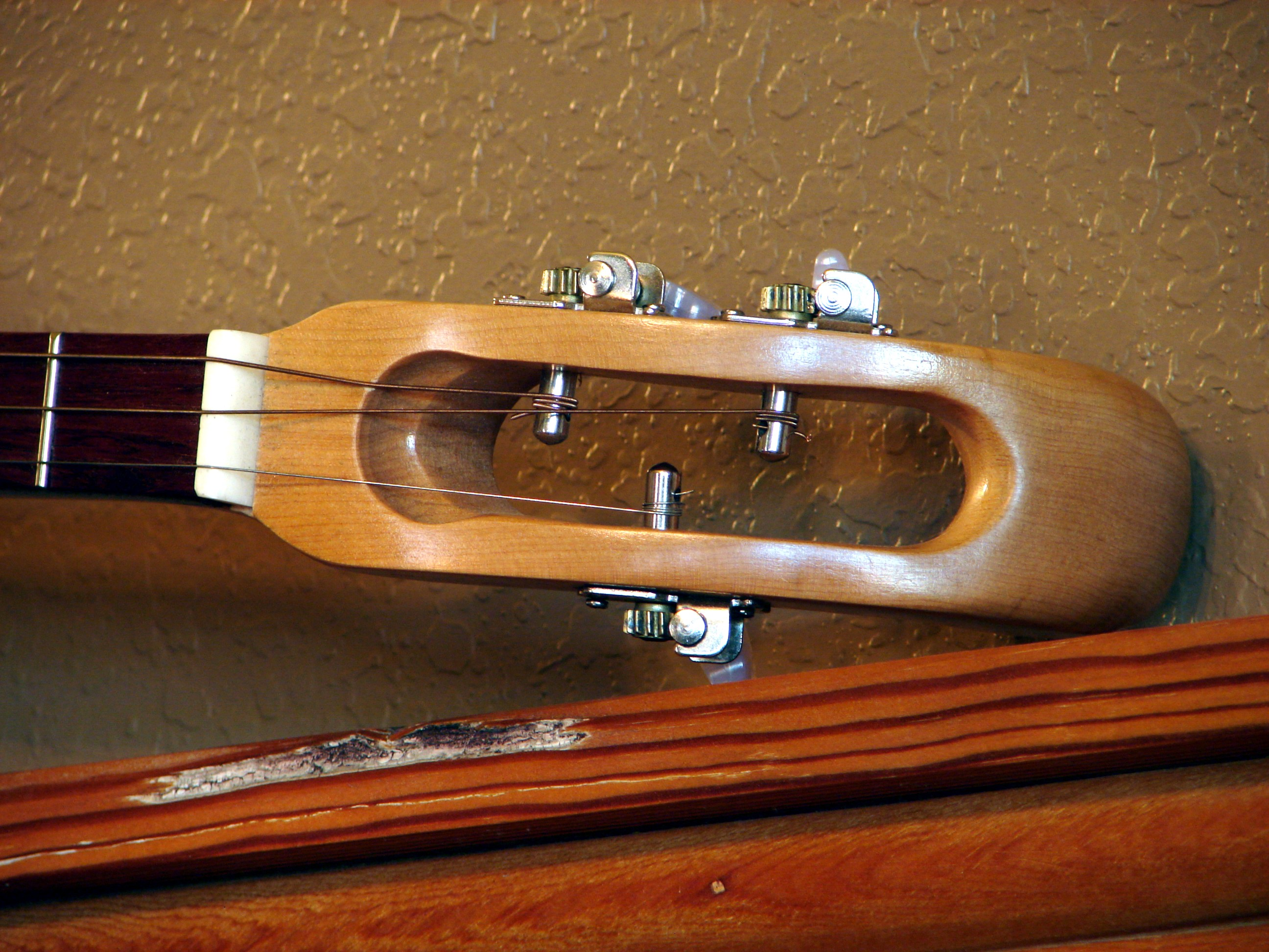 Hand carved headstock