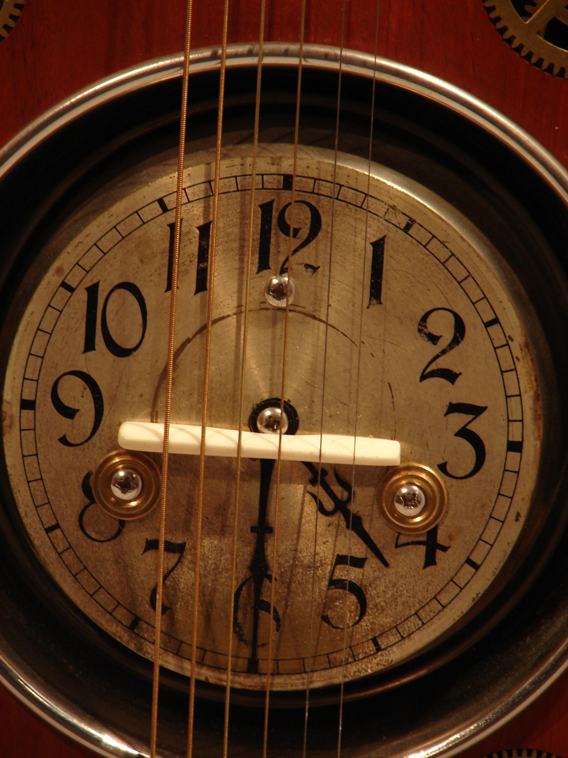 Antique clock face.