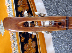 Headstock with open tuners