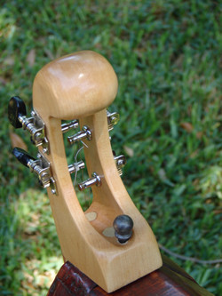 Hand-Carved Maple Headstock