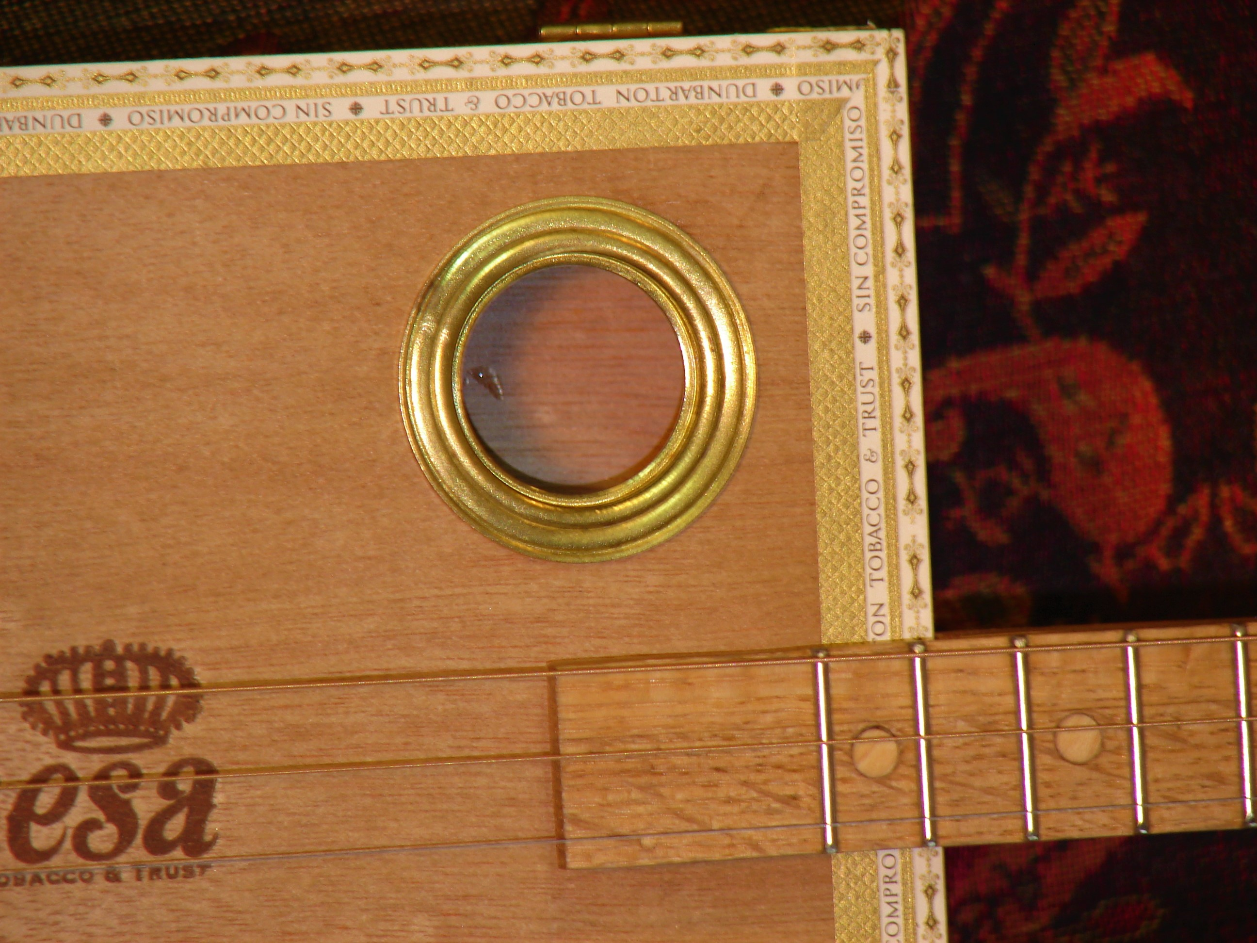 Brass sound hole