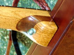 Neopolitan oak/walnut/oak heel