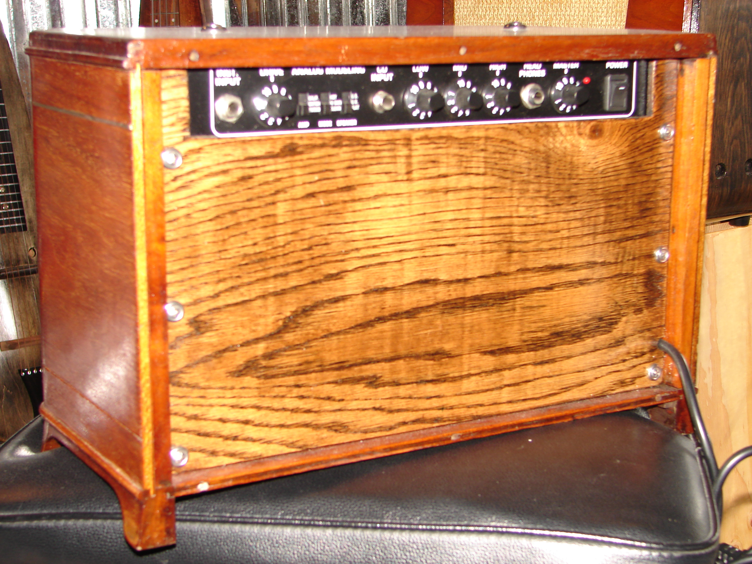 Old radio amp 1 (rear view)