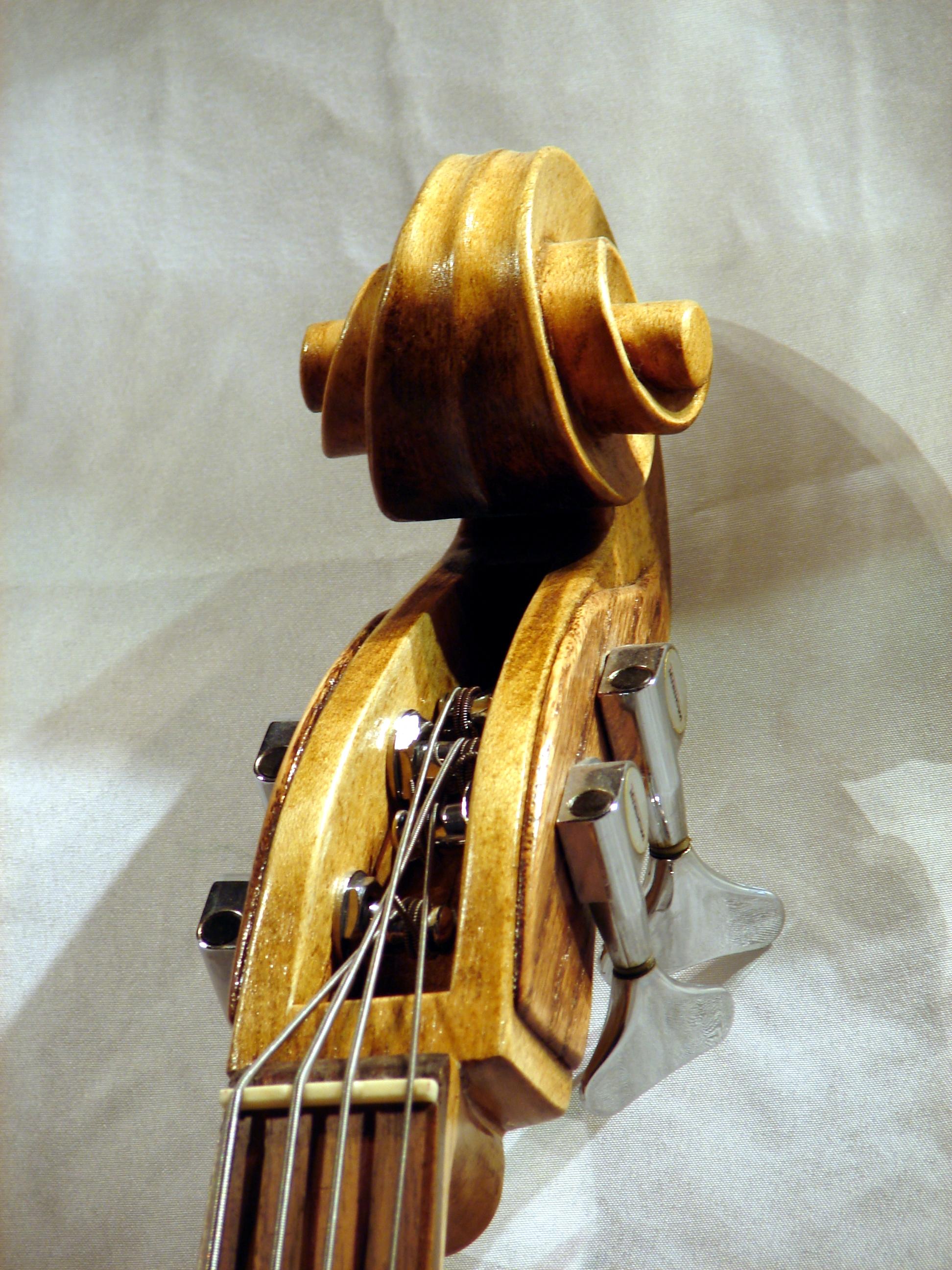 Cello headstock
