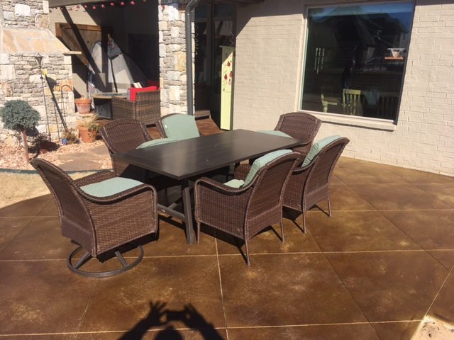Stained Patio