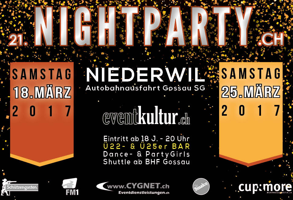 Plakat Nightparty 2017