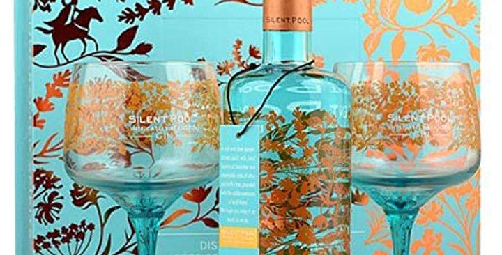 Silent Pool Gin Geschenksset mit 2 Gläsern