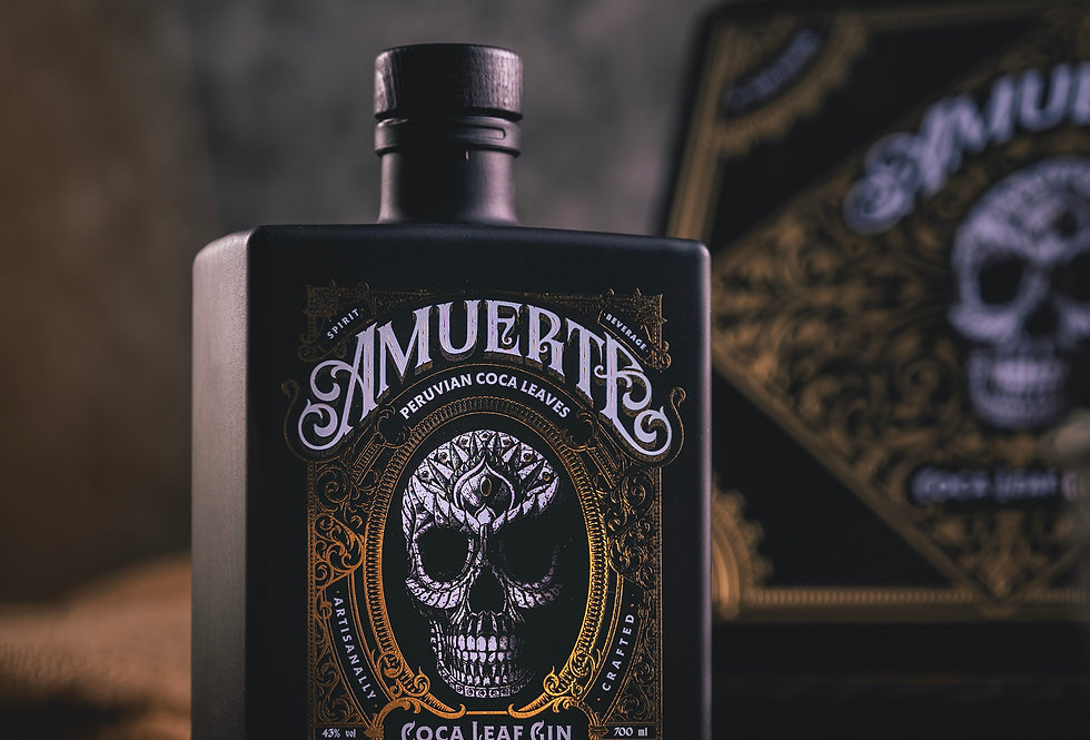 Amuerte Black Coca leaf Gin Gift Box