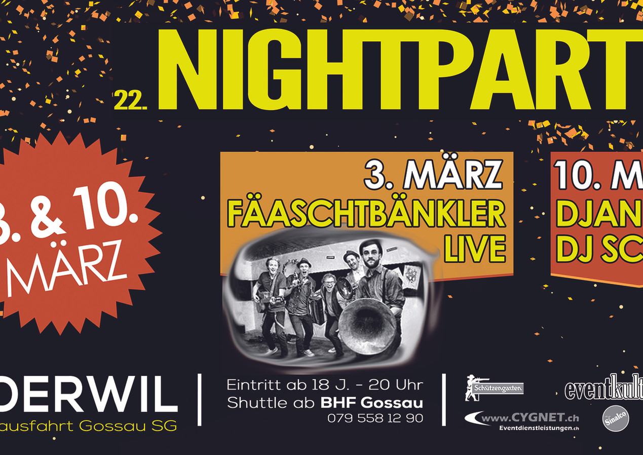 Plakat Nightparty 2018