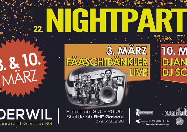 Plakat Nightparty 2018