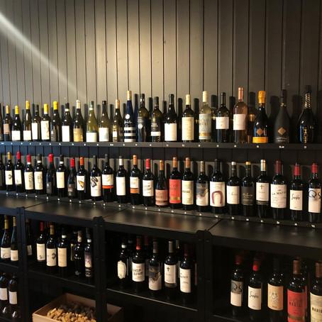 Das Weinsortiment ist verdoppelt