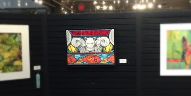 Dragoyle: Aniticipation, oil painting by JS Aitken, at Livonia Spring Exhibit