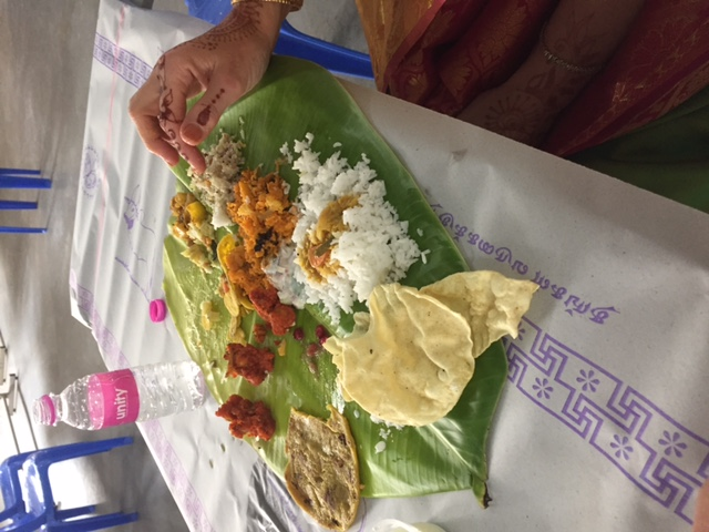 Lunch on a banana leaft