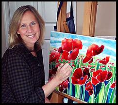 J Susan Aitken, painter, in her Michigan studio