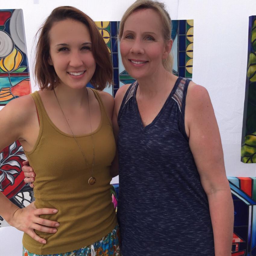 Artist Daughter Liz & me