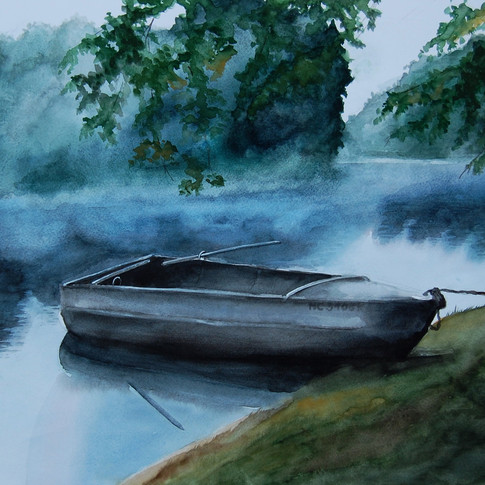 Boat on Spider Lake