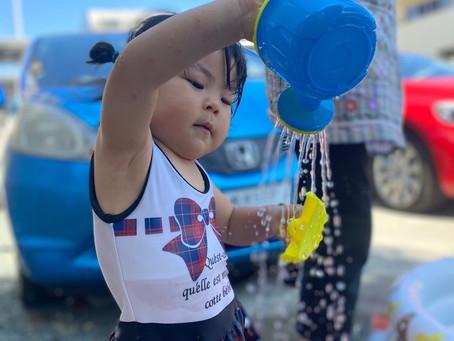 ♫水遊び楽しんでいます♫