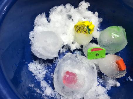 氷を溶かしておもちゃをGET!!